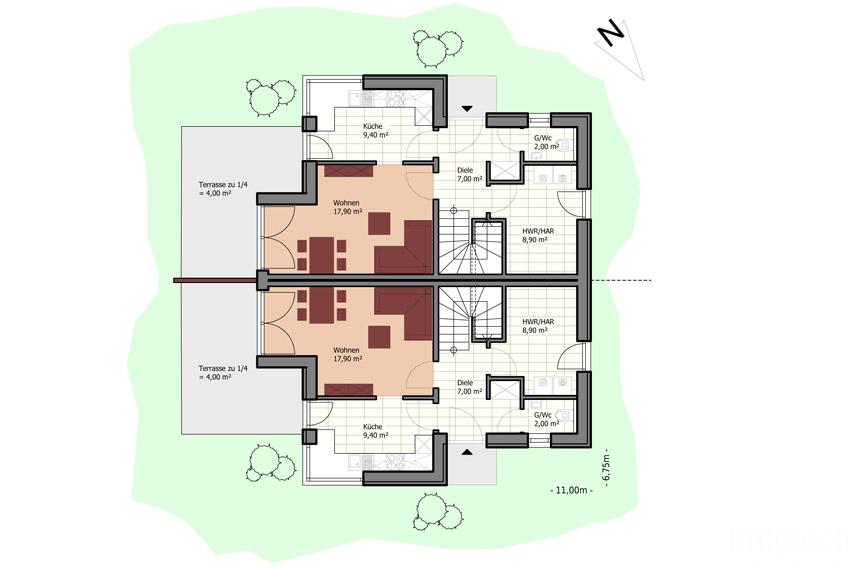typenhaus doppelhaus 76 real immobilien. Black Bedroom Furniture Sets. Home Design Ideas